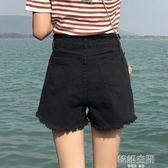 黑色牛仔超短褲女夏季2020新款外穿韓版寬松顯瘦a字高腰熱褲潮ins