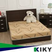 凱莉木色六分板床組 床頭片+床底 雙人5尺(白橡/胡桃)