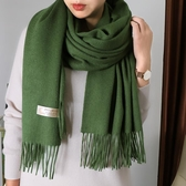 羊毛圍巾女冬季純色經典百搭長款超大兩用保暖加厚秋冬羊絨披肩 城市科技