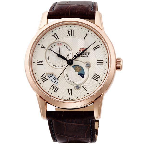 ORIENT東方錶SUN&MOON系列日月相腕錶 SAK00001Y