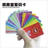打麻將錢碼籌碼幣卡片棋牌室專用麻將館高檔塑料牌子套裝加厚雙面    蜜拉貝爾