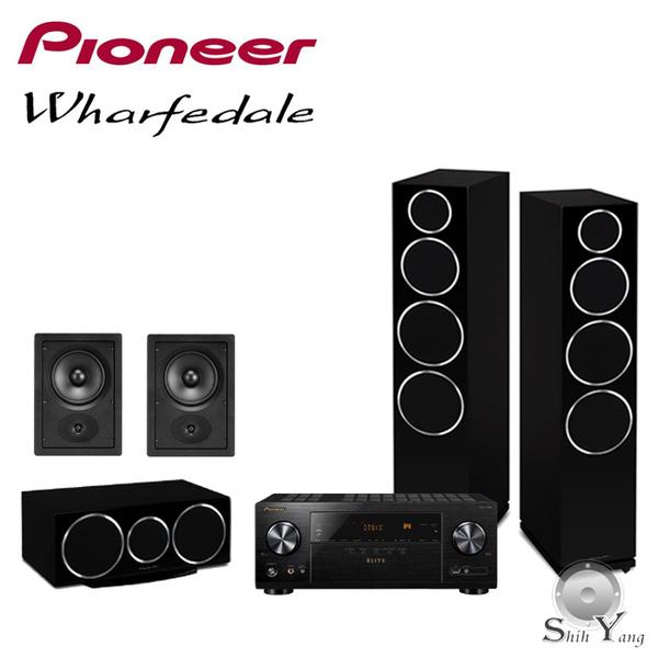 Pioneer VSX-LX104(B) + Wharfedale DM240/DM220C/DW-6 5聲道家庭劇院組【公司貨保固+免運】