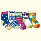 [韓風童品](5雙/組)男女童型棉襪  兒童短襪子 嬰兒襪子   男女寶寶襪子