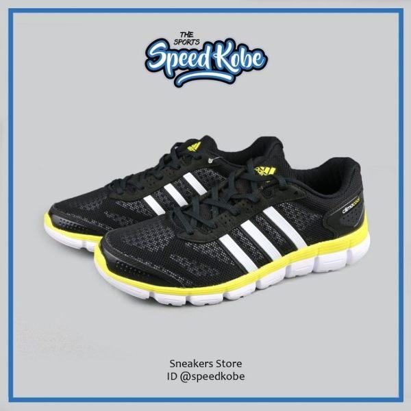 ADIDAS 慢跑鞋 CC Fresh M 黑白黃 透氣 鞋面 男 S76750【SP】