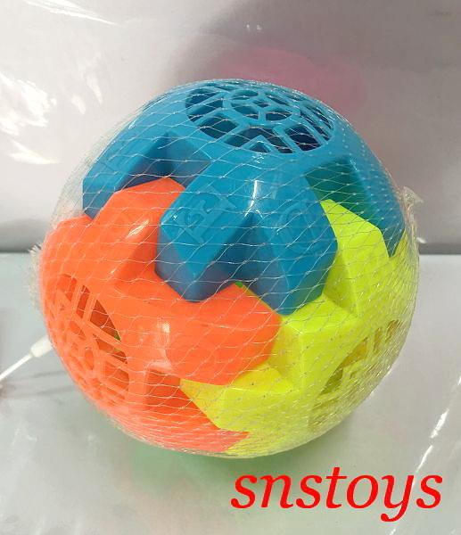 sns 古早味 懷舊童玩 鈴鐺塑膠球 塑膠球 硬的 直徑 11cm
