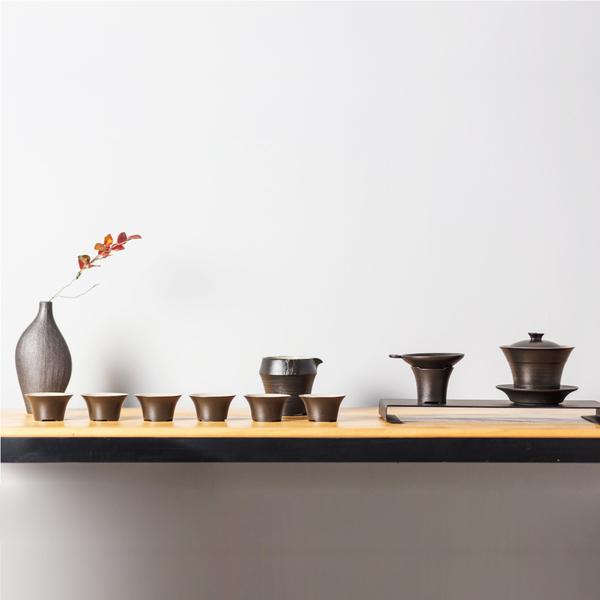 陸寶LOHAS Pottery 三才蓋碗茶組 一碗一海六杯一茶濾 裊裊茶香 新品上市