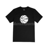 Nike 短袖T恤 Swoosh Tee 黑 白 男款 短T 籃球 毛料 運動休閒 【ACS】 CQ3877-010