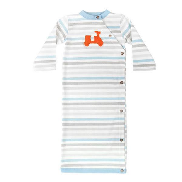 有機棉 包屁衣 哈衣 連身衣 Finn + Emma 長袖連身套裝Stripe款 B01-0500b