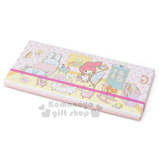〔小禮堂〕美樂蒂 日製盒裝36色鉛筆《迷你.粉.房間.照鏡子.床》 4901610-55599