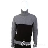 DAKS 灰色拼接設計高領毛衣 1340772-06