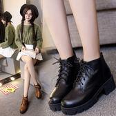 618好康又一發女裝繫帶厚底短靴馬丁靴