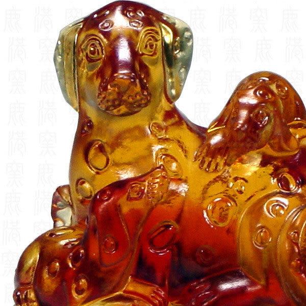 鹿港窯-居家開運商品-琉璃SS十二生肖文鎮-狗-附精美包裝◆免運費送到家