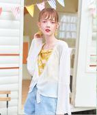 2018夏女短款薄雪紡衫披肩防曬衫開衫