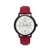 【Mini Cooper】經典時尚潮流白面雙圈石英腕錶-質感紅/MINI-160630/台灣總代理公司貨享兩年保固