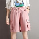 工裝短褲女寬鬆bf風港味夏季韓版運動休閒五分褲高腰日系直筒褲子 依凡卡時尚