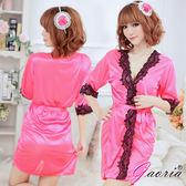 情趣用品 甜美嬌妻 誘惑睡衣睡裙 睡袍 玫紅色 N3-0076