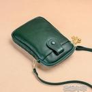 手機包新款真皮放手機的斜挎包女夏季牛皮豎款零錢袋迷你小包手機包 快速出貨