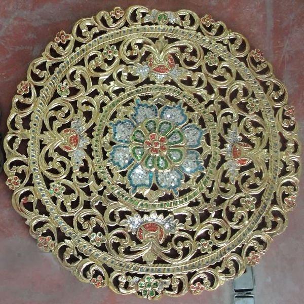 東南亞風格  柚木傢俱 方形柚木雕花飾壁掛