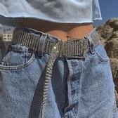新款時尚滿鑽腰帶女士腰封奢華大氣十排亮鑽鑲嵌重工水晶配飾腰鍊