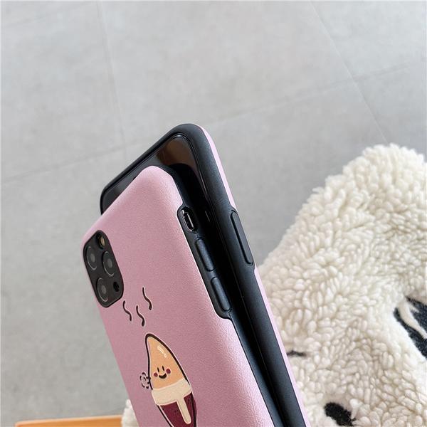 iPhone11ProMax 蘋果手機殼 可掛繩 紫色溫暖的番薯 矽膠軟殼 iX/i8/i7/i6s