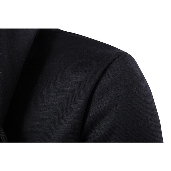 Free Shop 韓版暗黑者系型男刺客教條風格披風式全灰全黑灰素色長版連帽外套 有大尺碼【QTJ3898】