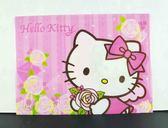 【震撼精品百貨】Hello Kitty 凱蒂貓~文件袋附扣-粉玫瑰