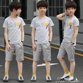 男童套裝 男童夏裝新款套裝兒童夏季童裝12韓版15歲中大童短袖兩件套潮  新年下殺