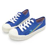 PLAYBOY 夏日波光 彩色條紋餅乾鞋-藍(Y6203)