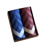 手帕禮盒 純棉方巾(兩件套)-時尚非凡紳士質感男配件3色73gd4【時尚巴黎】