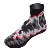 自行車卡鞋鞋套-吸濕排汗龍捲風印花單車鞋罩73nv5【時尚巴黎】