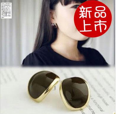 ►全區49折►純色金邊豆子耳釘 耳飾 耳吊墜 耳環【B1021】