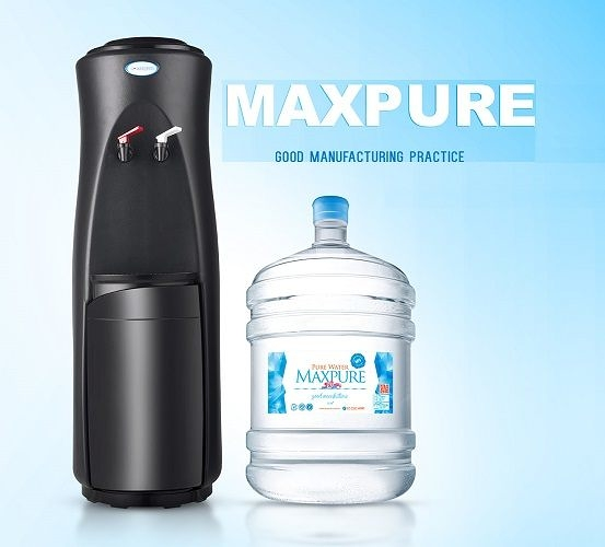 頂好 純水桶裝水17.25L X 20瓶 + 立式溫熱飲水機(黑)