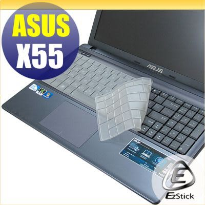 【EZstick】ASUS X55 X55VD 系列 專用奈米銀抗菌TPU鍵盤保護膜