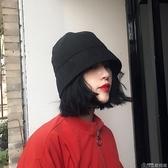漁夫帽設計師款日本小眾純色復古漁夫帽子潮男女秋季時尚街頭水桶帽盆帽歌莉婭