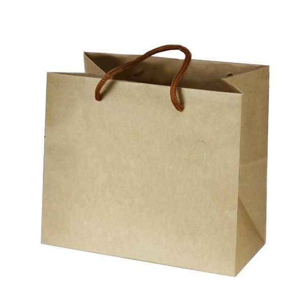 素面牛皮紙袋 兩種規格 平放袋 禮盒袋 紙袋 購物袋 牛皮袋 手提袋 蛋糕盒袋 包裝袋【D200】
