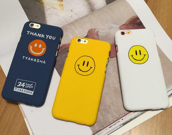 【SZ14】 iphone 6 plus手機殼 磨砂笑臉硬殼  iPhone 7/8 plus 保護殼 iPhone 7/8 殼 iphone 6s 殼 ipone5 保護殼