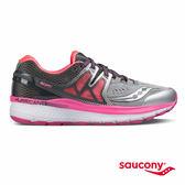 SAUCONY HURRICANE ISO 3 穩定支撐專業訓練鞋款-灰x粉x白