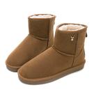 PLAYBOY 陽光雪戀 皇冠織標短筒雪靴-棕(Y3833)