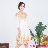 【RED HOUSE 蕾赫斯】印花花苞洋裝(橘色)