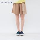 a la sha 大象口袋造型拼接短褲裙