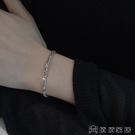 925銀麻花閨蜜手錬ins小眾設計女網紅學生簡約輕奢手飾韓版個性潮
