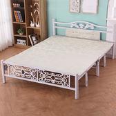 床架 折疊床巴洛克鐵床木板床午睡床午休床陪護單人床雙人床1米1.2米igo 傾城小鋪