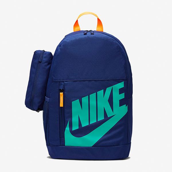 NIKE Elemental 後背包 兒童背包 可調式背帶 筆袋 水壺袋 藍【運動世界】BA6030-492