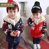 男童童裝加厚棉衣外套-2-3-4-6-7歲男寶加絨冬裝兒童正韓棉服棉襖【聖誕節交換禮物】
