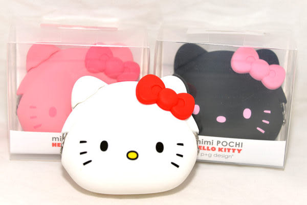 日本正版 mimi POCHI 矽膠零錢包 Hello Kitty 凱蒂貓