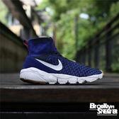Nike Air Footscape Magista Flyknit 高筒 編織 襪套 藍色 呂布 武士慢跑鞋 2016 9月  ( 布魯克林 )  816560-400
