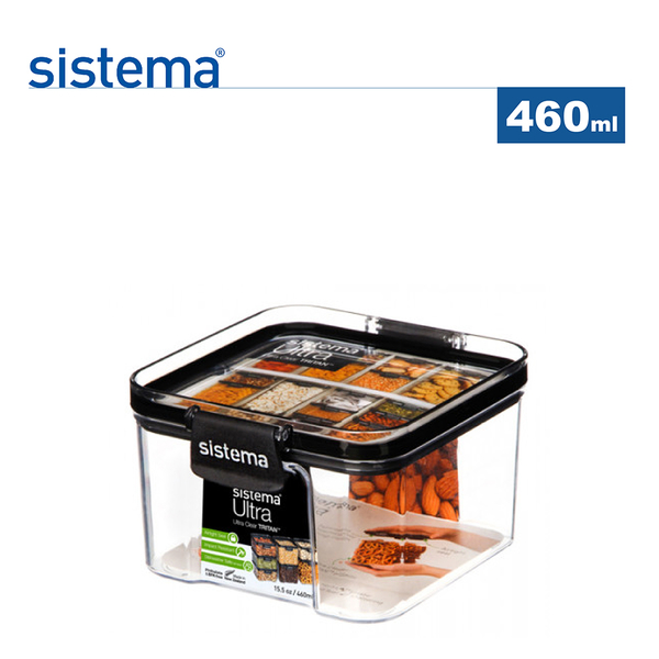 【sistema】紐西蘭進口Ultra系列方形密封保鮮盒(460ml)