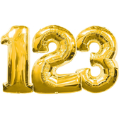 34吋金色數字鋁箔氣球(不含氣)-0到9