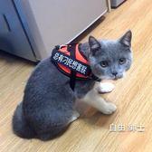 貓咪牽引繩防掙脫專用溜貓繩栓貓遛貓背心式背帶項圈小貓繩子貓鍊(免運)