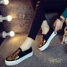 新款帆布鞋女鞋韓版一腳蹬懶人鞋厚底夏季百搭學生布鞋子【優帛良衣】